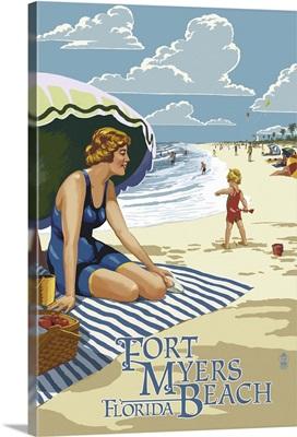 Beach Scene, Fort Myers Beach, Florida