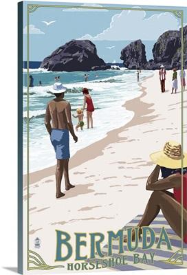 Beach Scene, Horseshoe Bay, Bermuda