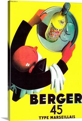 Berger 45 Vintage Poster, Europe
