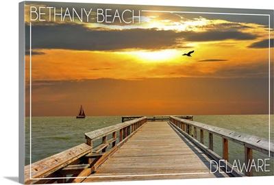Bethany Beach, Delaware, Dock at Sunset