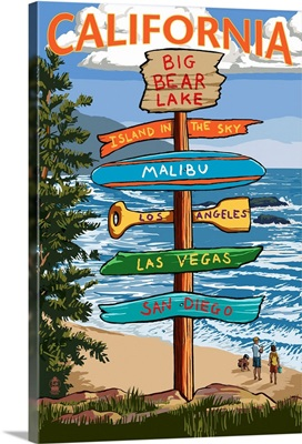 Big Bear Lake, California, Destination Signpost