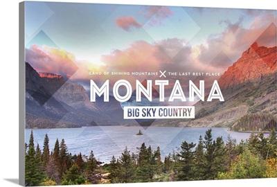 Big Sky Country Montana, Rubber Stamp
