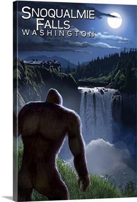 Bigfoot, Snowqualmie Falls, Washington