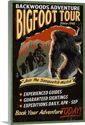 Bigfoot Tours, Vintage Sign