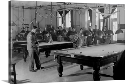 Billiards Room for Soldiers at the Y.M.C.A