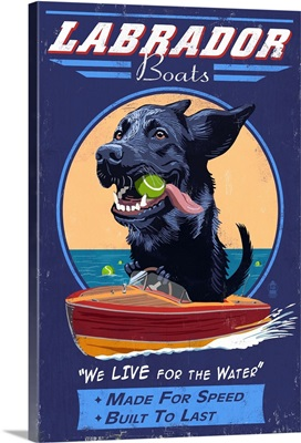 Black Labrador, Retro Boats Ad