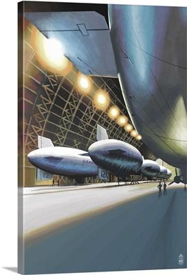 Blimps in Hangar