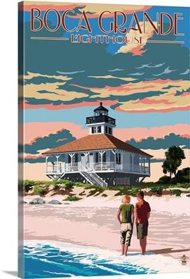 Boca Grande, Florida - Lighthouse: Retro Travel Poster