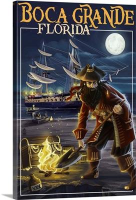 Boca Grande, Florida - Pirate: Retro Travel Poster