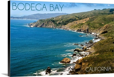 Bodega Bay, California, Ocean and Rocky Coastline
