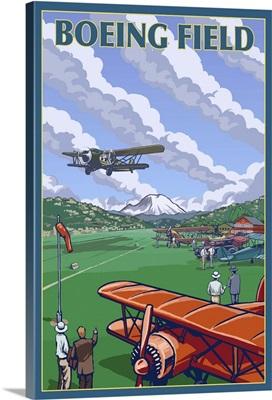 Boeing Field - Seattle, Washington: Retro Travel Poster