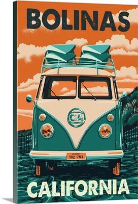 Bolinas, California, VW Van
