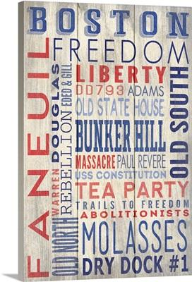 Boston, Massachusetts, Barnwood Typography