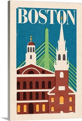 Boston, Massachusetts, Woodblock