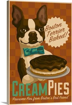 Boston Terrier, Retro Cream Pie Ad