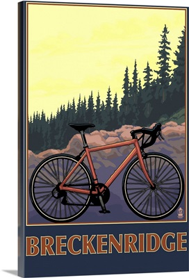 Breckenridge, Colorado - Mountain Bike: Retro Travel Poster