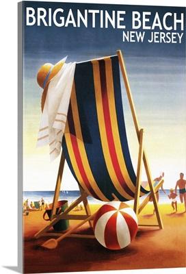 Brigantine Beach, New Jersey, Beach Chair and Ball