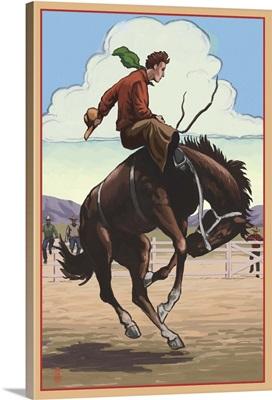 Bronco Bucking: Retro Poster