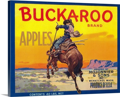 Buckaroo Apple Label, Wenatchee, WA