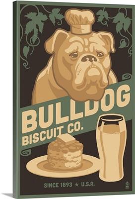 Bulldog, Retro Bisquit Ad