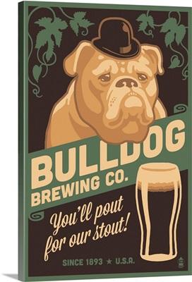 Bulldog, Retro Stout Beer Ad