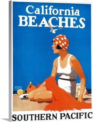 California Beaches Promotional Poster, California