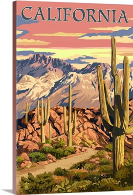 California, Desert Trail Scene