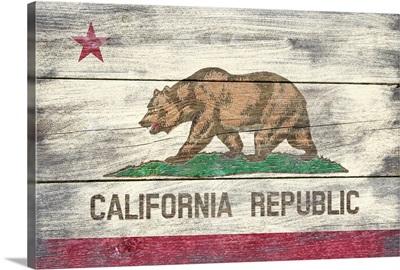 California State Flag, Barnwood Painting