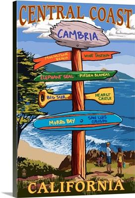 Cambria, California, Central Coast Destination Sign