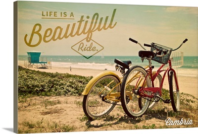 Cambria, California, Life is a Beautiful Ride, Bicycles and Beach Scene