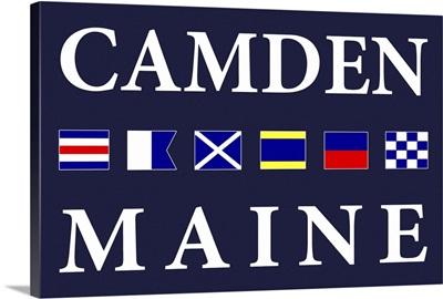 Camden, Maine - Nautical Flags Poster