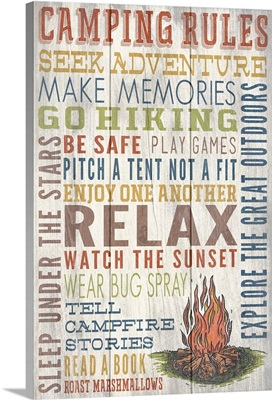 Camping Rules Typography