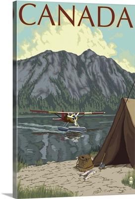 Canada - Float Plane: Retro Travel Poster