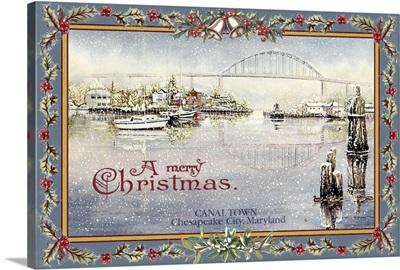 Canal Town - Christmas Scene - Chesapeake City, Maryland