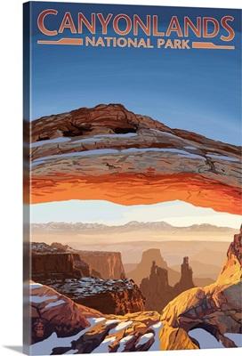 Canyonlands National Park, Utah - Arch: Retro Travel Poster