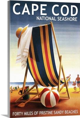 Cape Cod National Seashore, Beach Chair and Ball