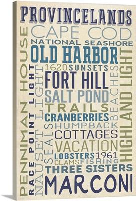 Cape Cod National Seashore, Massachusetts, Typography