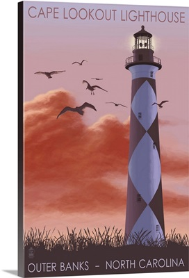 Cape Lookout Lighthouse and Sunrise, Outer Banks, North Carolina