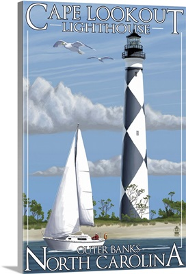 Cape Lookout Lighthouse, Outer Banks, North Carolina