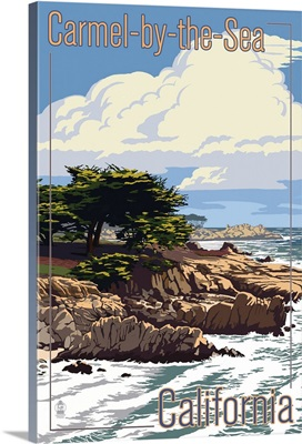 Carmel-by-the-Sea, California, View of Cypress Trees