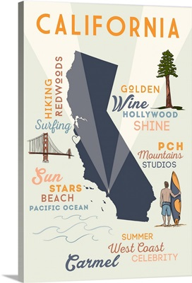 Carmel, California, Typography and Icons