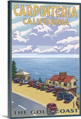 Carpinteria, California - Coastal Scene: Retro Travel Poster