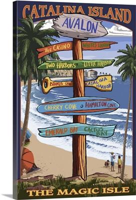 Catalina Island, California, Destination Sign