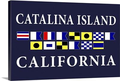 Catalina Island, California - Nautical Flags Poster