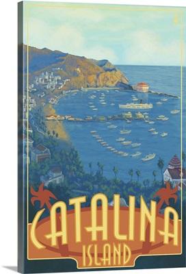 Catalina Island, California: Retro Travel Poster