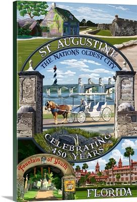 Celebrating 450 Years, St. Augustine, Florida, Montage Scenes