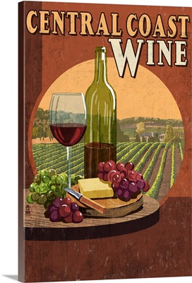Central Coast, California, Wine Vintage Sign