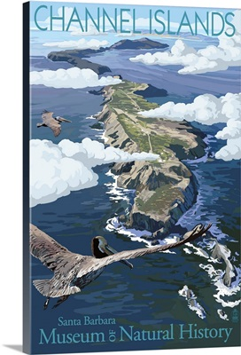 Channel Islands, California - Museum of Natural History: Retro Travel Poster