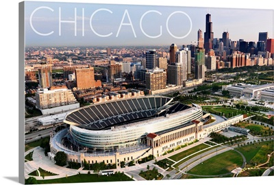 Chicago, Illinois, Aerial of Soldier Field