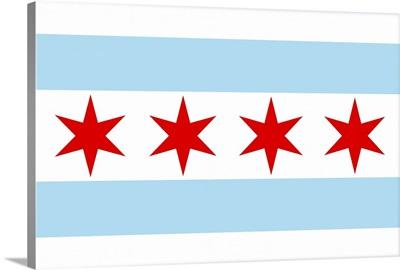 Chicago, Illinois, Flag (Version #2)